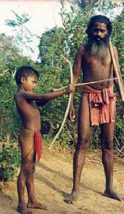Vedda boys learn archery from an early age