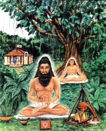 Bhogar Nath y su joven discípulo Babaji y Kataragama