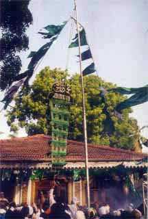 Flag-hoisting at Kataragama Mosque