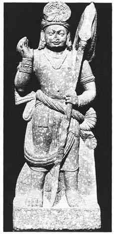 Kushan period (ca. 1-2nd cent AD) statue of Karttikeya