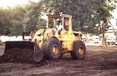 Kali Yuga Comes to Kataragama: Heavy earth moving equipment to build Kataragama's bus stand in 1987