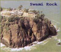 Aerial view of Swami Rock, Trincomalee