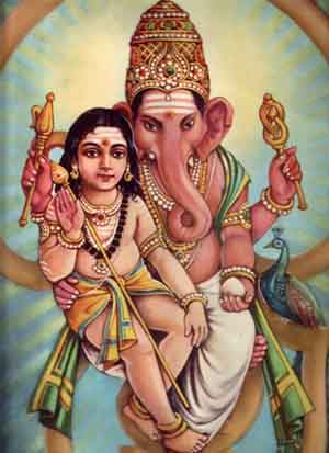 Murugan and Ganapati
