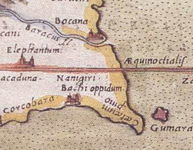 Ptolemy's map: detail of Kataragam4 (16 kb)
