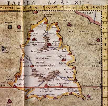 Ptolemy's map of Taprobane