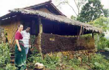 The mud hut where the author lives