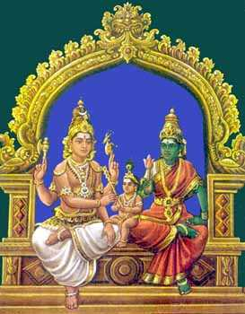 Somaskanda: Skanda as the Divine Child of Mother Uma and Father Siva.
