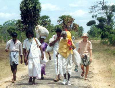 Theo on the 1991 Kataragama Pada Yatra