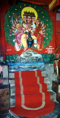 Devotees see only seven tirai or painted curtains