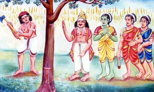Murugan transforms himself into a tree