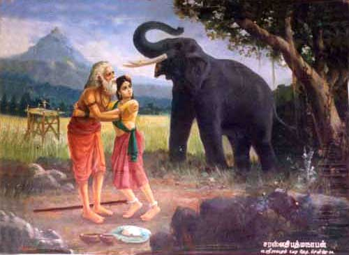 Old Man Murugan 'saves' Valli from rogue elephant Ganapati